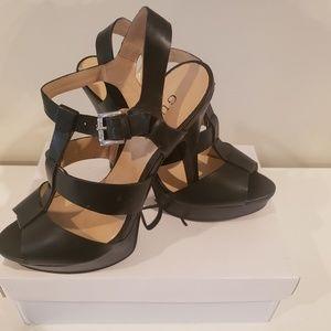 Guess Black platform heels